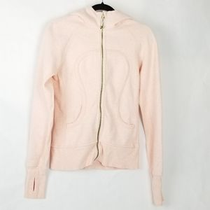 Lululemon Scuba Hoodie Light Pink Gold Zip Jacket